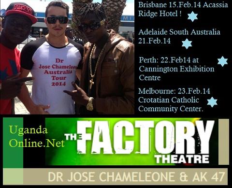 Chameleone Australia tour dates