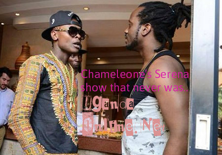 Jose Chameleone with Bebe Cool at Serena Hotel in Kigali