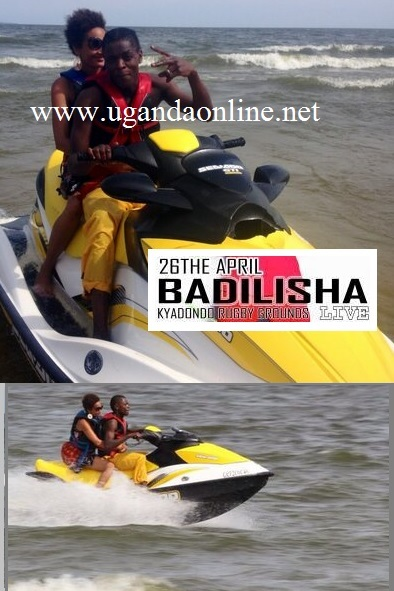 Jose Chameleone and Daniella cruising a Jet Ski in Entebbe