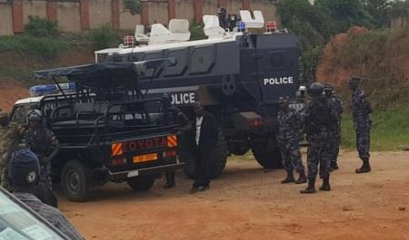 Heavy deployment on Gayaza road