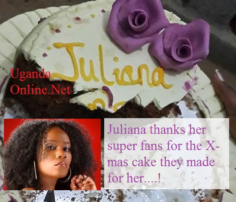 Juliana thanks her super fans for the x-mas cake they made for her