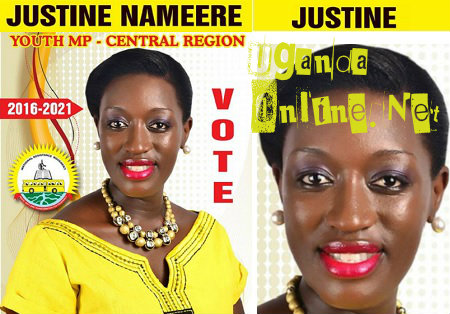 Justine Nameere Youth MP Central Region