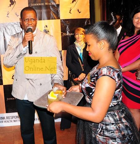 Club Silk's Elvis Wavamuno addressing the guests