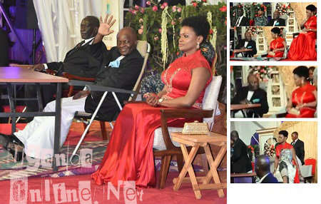 Kabaka and the Queen at their palace during his 62nd birthday