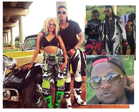 Sheebah, Solid Star, Kabako and inset is Jeff Kiwa
