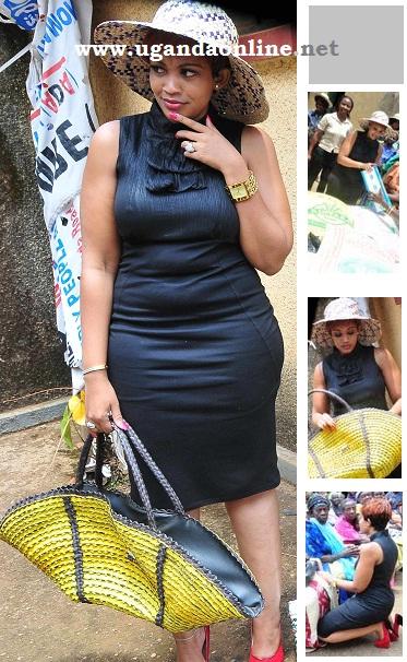 Zari with a sisal made bag by the Kabowa women