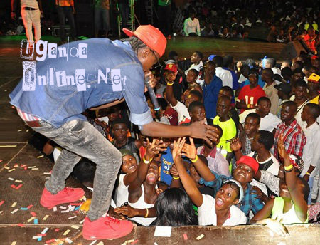 Jose Chameleone at the Kadanke festival