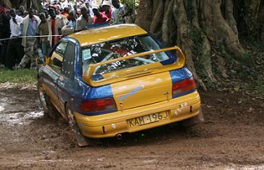 KAM 196 J driver survives tree narrowly at Entebbe Sprint(05.Oct.2008)