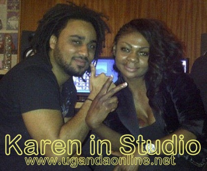 Karen with a well known music producer in Nigeria