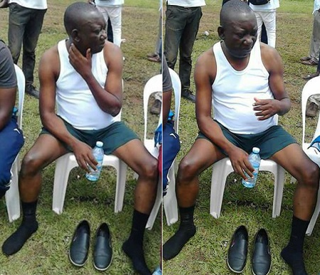 Kato Lubwama as he waited to join the game