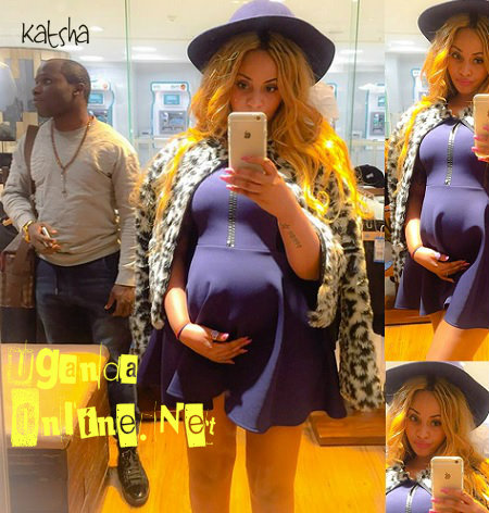 Katsha and his pregnant babe, Shakira Kayihura