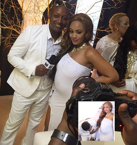 Dave Kazoora interviews Zari at the White party in Dar