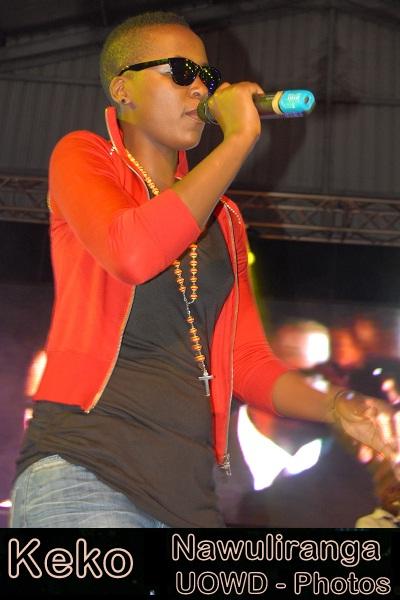 Keko performing at the Nawuliranga Concert last Saturday