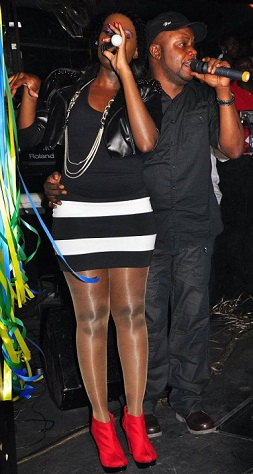 Juliana and Kidum at Club Rouge