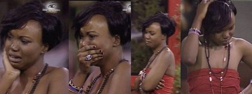 Zambia's Kim in tears the night Nic from Kenya was evicted