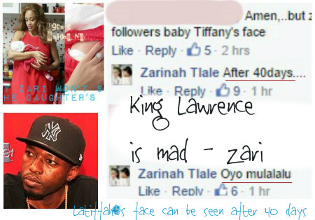 King Lawrence is mad - Zari