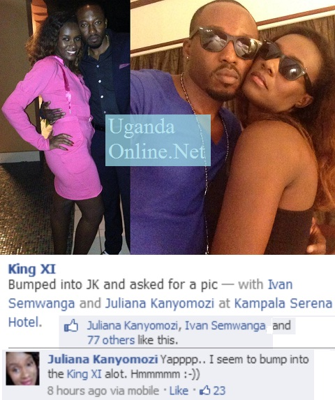 Juliana and King Lawrence spotted on different occasions.