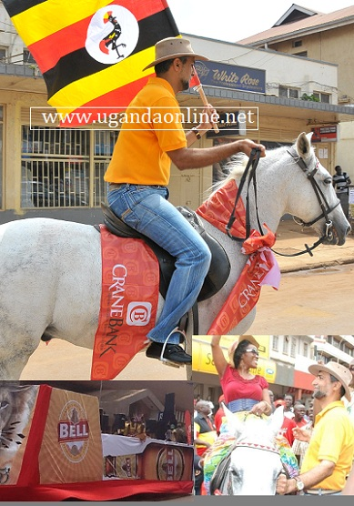 KCCA Executive Director Jenipher Musisi did try out this horse during the celebrations to mark the 50 years