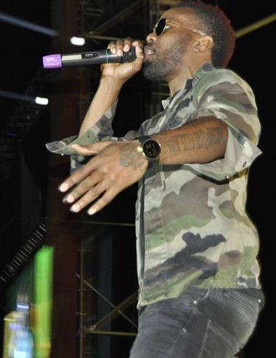 Konshens doing his thing at Lugogo Cricket Oval