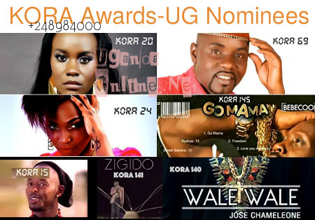 Six Ugandan artistes nominated for the 2015 KORA awards