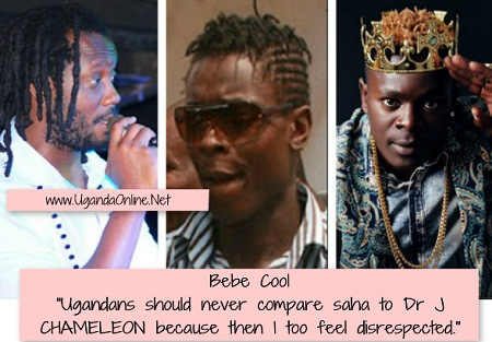 Bebe Cool not happy with those comparing Saha to Chameleone