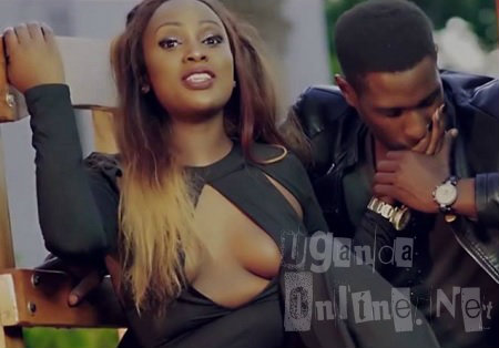 Leila and her male model in the Kyana Gwe video