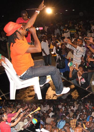 Bebe Cool on the night of the blast at Kyadondo