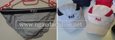 Kyle underwear and caps which can be got in South Africa and Uganda