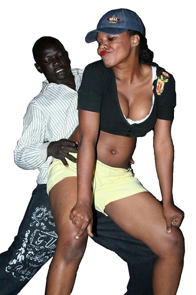 Dinka Man with Sexy Babe
