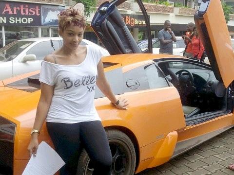 Zari and her orange beast at Garden city last year