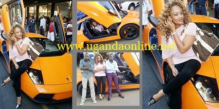 Zari strikes a pose on their latest Lamborghini