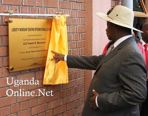 President Museveni commissioning Pastor Namutebi's church