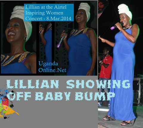 Lillian showing off baby bump