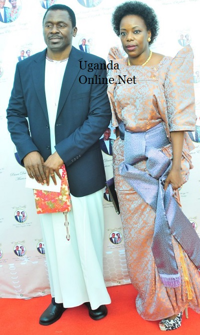 Ange-Noir's Charlie Lubega and wife at the Royal Wedding
