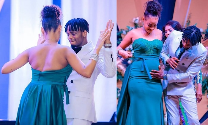 Tanasha Donna dancing with her lover Platnumz