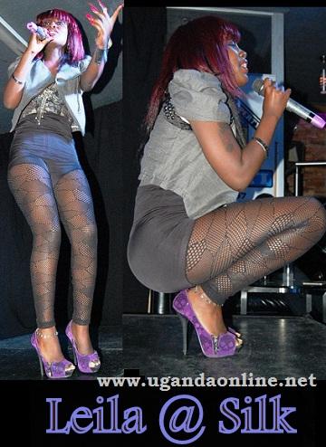 Leila Kayondo performing at Club Silk