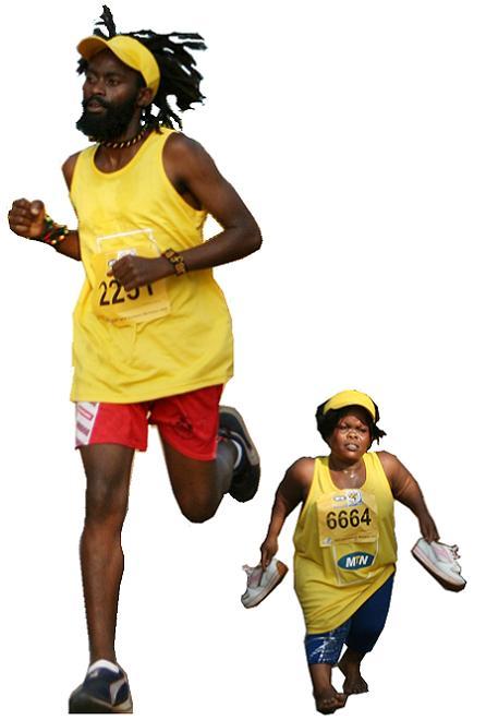 Rasta Man and Sarah Short