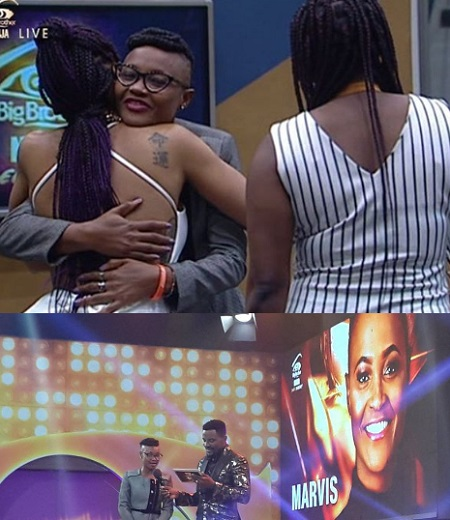 Marvis was the first finalist to be evicted
