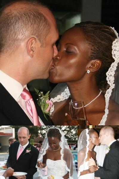 Big Brother Africa 3 Ug Rep on her wedding day in 2009