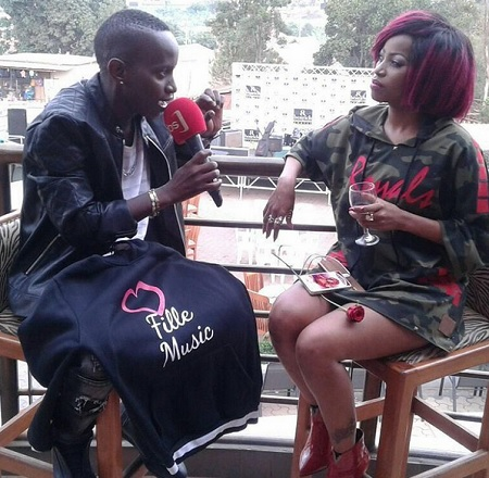 MC Kats interviewing Sheebah on Vals day