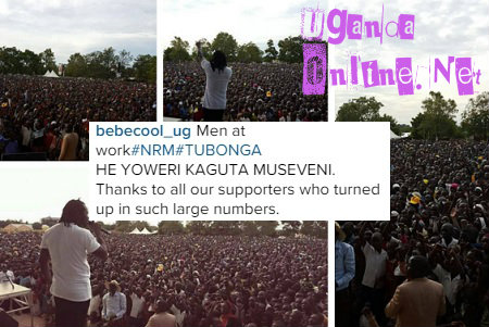 Bebe Cool is busy with the campaigns