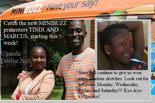 Tindi and Marcus are the new Minibuzz hosts