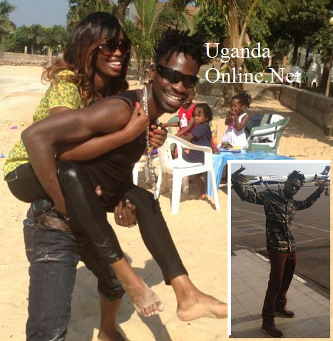 Bobi Wine and Barbie at Spenah Beach