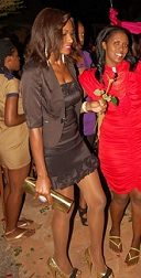 Miss Uganda at BBQ Lounge flying solo on Valentines day