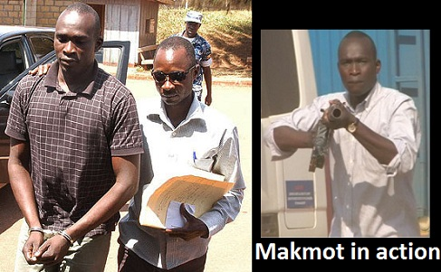 Makmot being led to Nakawa Court