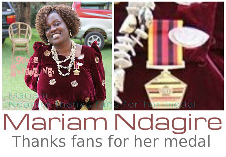 Mariam Ndagire thanks fans for her medal