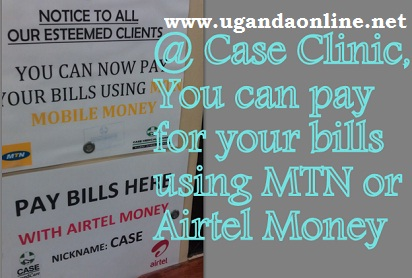 At Case Clinic, You can pay for your bills using mobile money