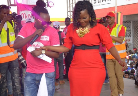 KCCA's ED showing off her curves at the Movit stage