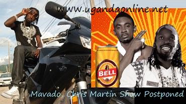 Mavado and Chris Martin show postponed to next year