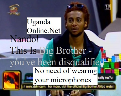 Tanzania's Nando disqualified from the Big Brother game
